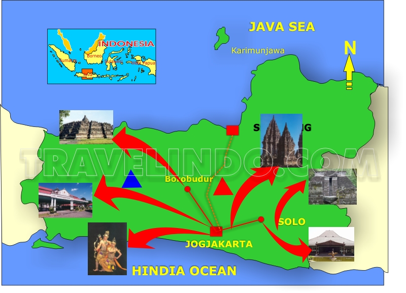 Travelindo Indonesia Travel Agent - Yogyakarta map