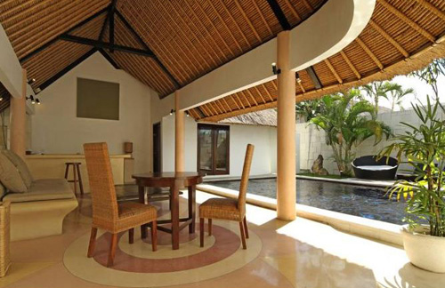BVilla Seaside 1 Bedroom Villa Living Area