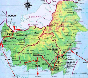 Indonesia Travel - Map The BORNEO Orangutan Tour Package