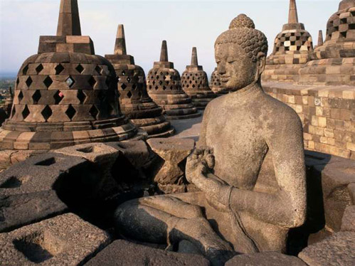 Borobudur in the morning